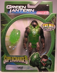 Green Lantern Supercharged - Voz 4.5 inch Mattel, Green Lantern, Action Figures, 2011, scifi, movie