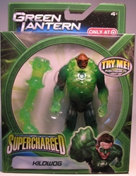 Green Lantern Supercharged - Kilowog 5 inch Mattel, Green Lantern, Action Figures, 2011, scifi, movie