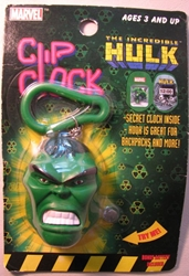 The Incredible Hulk Clip Clock (keychain/watch) Toy Biz, Hulk, Keychains, 2003|Color~green, superhero, comic book