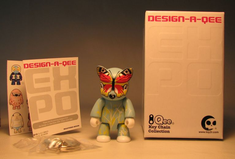 Design-a-Qee 2.5 inch Series 1  Mr Papillon Toy2R, Qee, Action Figures, 2005, collectible