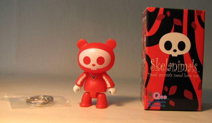 Skelanimals 2.5 inch Series 1 Qee Chungkee Red