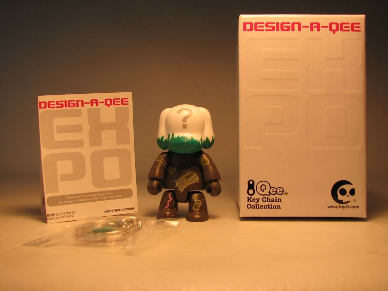 Design-a-Qee 2.5 inch Series 1  Missing Something Mutt Toy2R, Qee, Action Figures, 2005, collectible