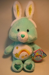 Care Bears 8 inch plush Happy Easter Wish Bear softy Play Along, Care Bears, Plush, 2003, animated, cartoon