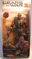 Gears of War 3 NECA 7 inch Augustus Cole NECA, Gears of War, Action Figures, 2011, scifi, video game