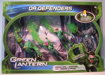 Green Lantern OA Defenders Boxed Set (4 figures) Mattel, Green Lantern, Action Figures, 2011, scifi, movie
