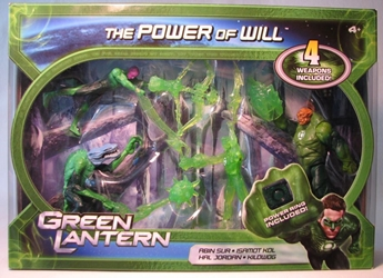 Green Lantern The Power of Will Boxed Set (4 figs) Mattel, Green Lantern, Action Figures, 2011, scifi, movie