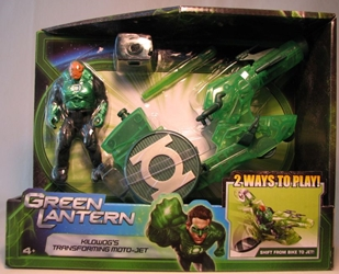 Green Lantern Kilowogs Transforming Moto Jet Mattel, Green Lantern, Action Figures, 2011, scifi, movie