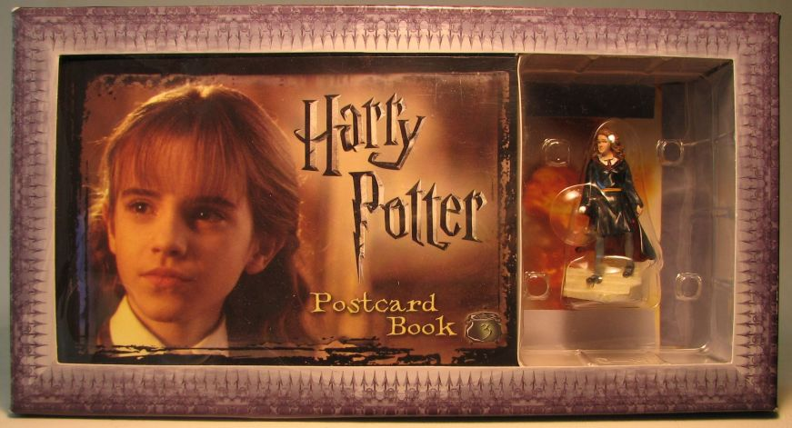 Harry Potter Postcard Book with Hermione figurine