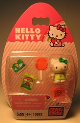 Mega Bloks 10882 Hello Kitty 1.2 inch fig (green top ) Mega Bloks, Hello Kitty, Legos & Mega Bloks, 2012, animated, japan