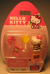 Mega Bloks 10883 Hello Kitty 1.2 inch fig (beestripes) Mega Bloks, Hello Kitty, Legos & Mega Bloks, 2012, animated, japan