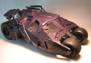 Batman The Dark Knight Batmobile w Sound LOOSE Mattel, Batman, Action Figures, 2005, superhero, comic book