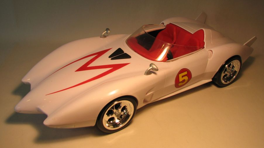 Speed Racer 18 inch Mach 5 with Sounds LOOSE Hot Wheels, Speed Racer, Action Figures, 2008, sports, movie