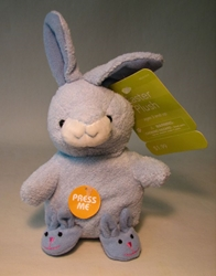 Plush 5 inch blue Bunny with Slippers Target, Easter, Plush, 2005, easter, holiday