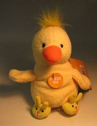 Easter Plush 5 inch yellow Chick with Slippers NM Target, Easter, Plush, 2005, easter, holiday
