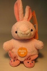 Easter Plush 5 inch pink Bunny with Slippers NM Target, Easter, Plush, 2005, easter, holiday