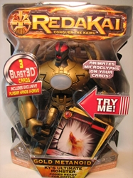 Redakai 7 inch figure Gold Metanoid Spin Master, Redakai, Action Figures, 2011, scifi, game