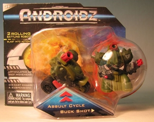 Androidz 2 inch rolling robots: AssultCycle + Buck Shot Toy Quest, Androidz, Action Figures, 2010, robots, online site