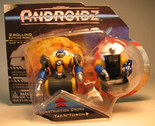 Androidz 2 inch rolling robots: Con Drone + TacN Torch Toy Quest, Androidz, Action Figures, 2010, robots, online site