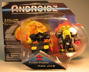 Androidz 2 inch rolling robots: Flash Flood + Hack Jaw Toy Quest, Androidz, Action Figures, 2010, robots, online site