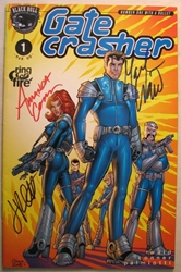 Black Bull Comics Gate Crasher #1 Autographed  Black Bull Comics, Gate Crasher, Comic Books, 2000, action, comic book
