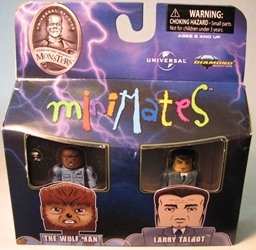 Diamond Minimates Monsters Wolfman + Larry Talbot Diamond Select, Star Trek, Action Figures, 2009, scifi, tv show, movie