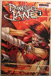 Event Comics Painkiller Jane #1 Autographed  Event Comics, Painkiller Jane, Comic Books, 1997, superhero, comic book