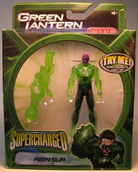 Green Lantern Supercharged - Abin Sur 4 inch Mattel, Green Lantern, Action Figures, 2011, scifi, movie