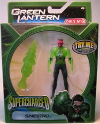 Green Lantern Supercharged - Sinestro 4 inch Mattel, Green Lantern, Action Figures, 2011, scifi, movie