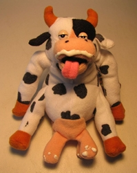 Meanies Series 2 Bessie Got Milked (cow) The Idea Factory, Meanies, Plush, 1998, horror, halloween