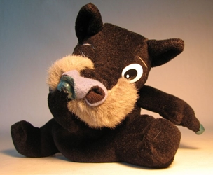 Meanies Series 2 Digger the Snottish Terrier (black) The Idea Factory, Meanies, Plush, 1998, horror, halloween