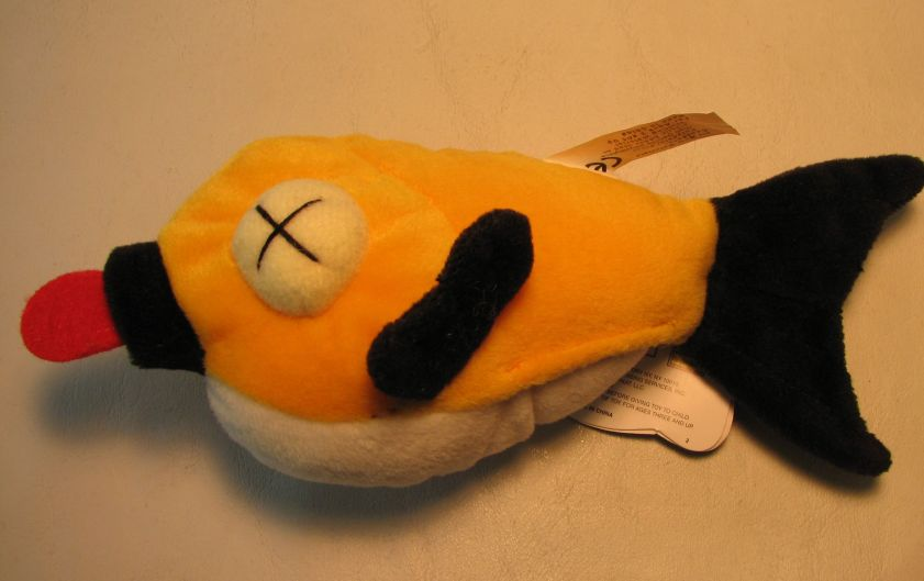 Meanies Series 2 Floaty the Fish The Idea Factory, Meanies, Plush, 1998, horror, halloween