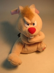Meanies Series 2 Luckt the Rabbit (missing a leg) The Idea Factory, Meanies, Plush, 1998, horror, halloween