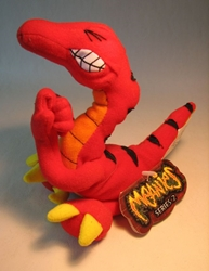 Meanies Series 2 Velocicrapper (red dino pooping) The Idea Factory, Meanies, Plush, 1998, horror, halloween