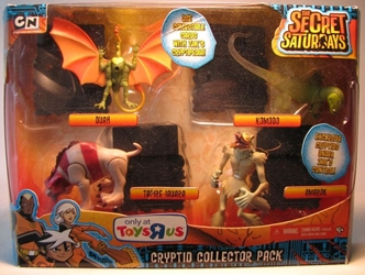 Secret Saturdays - Cryptid collector 4-pack Mattel, Secret Saturdays, Action Figures, 2009, adventure, fantasy, tv show