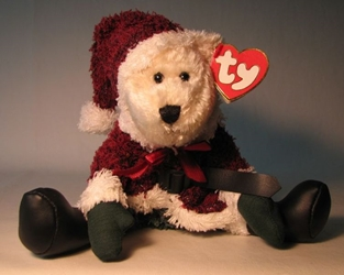 Ty Attic Treasure - Santabear Ty, Attic Treasure, Plush, 2000, cute animals