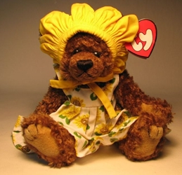 Ty Attic Treasure - Susannah (sunflower bear) Ty, Attic Treasure, Plush, 1993, cute animals