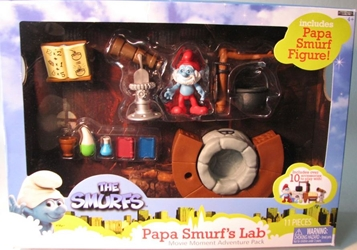 Smurfs - Papa Smurf `s Lab w Papa Smurf Jakks, Smurfs, Action Figures, 2011, animated, cartoon, movie