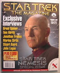 Star Trek Magazine February 2003 Exclusive Interviews Paramount, Star Trek, Magazines, 2003, scifi, tv show, movie
