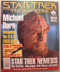 Star Trek Magazine January 2003 Michael Dorn Paramount, Star Trek, Magazines, 2003, scifi, tv show, movie