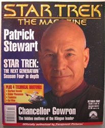 Star Trek Magazine October 2002 Patrick Stewart Paramount, Star Trek, Magazines, 2002, scifi, tv show, movie