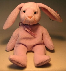 Ty Beanie Baby - Floppity (lavender bunny) Ty, Beanie Baby, Plush, 1996, cute animals