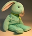 Ty Beanie Baby - Hippity (pale green bunny) - 1325-43CCCUTM