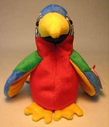 Ty Beanie Baby - Jabber (the parrot) Ty, Beanie Baby, Plush, 1998, cute animals