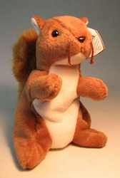 Ty Beanie Baby - Nuts (squirrel) Ty, Beanie Baby, Plush, 1996, cute animals