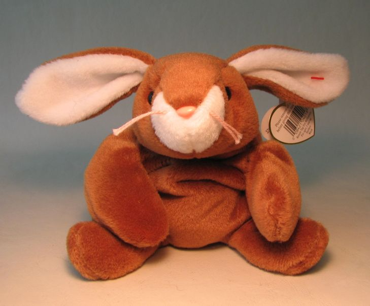 Ty Beanie Baby - Ears (brown bunny)