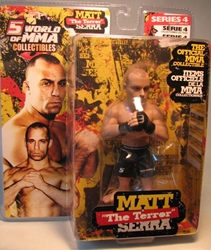 World of MMA Matt The Terror Serra 5.5 inch Round 5, UFC, Wrestling, 2009, warriors, pro league