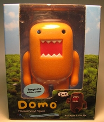 Domo 4 inch flocked vinyl figure (orange) Dark Horse, Domo, Action Figures, 2009, kidfare, commercial