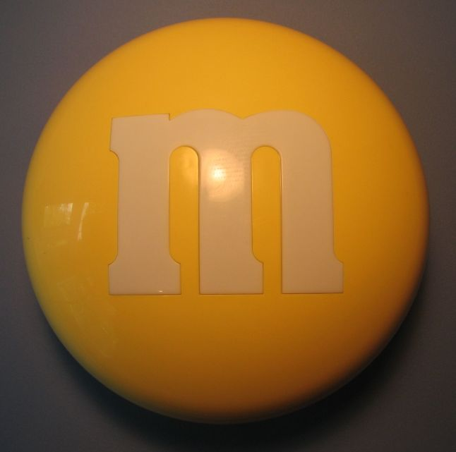M&M candy case (yellow) Mars, M&M, Preschool, 2000, animated