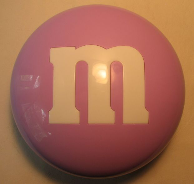 M&M candy case (lavender) Mars, M&M, Preschool, 2000, animated