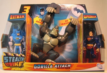 Batman Stealth Strike Gorilla Attack (with Superman) Mattel, Batman, Action Figures, 2011, superhero, comic book